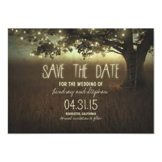 romantic night lights rustic save the date cards 11 cm x 16 cm invitation card