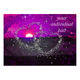 romantic night purple large business cards (Pack of 100)