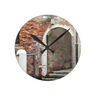 Romantic Old Venice Round Clock