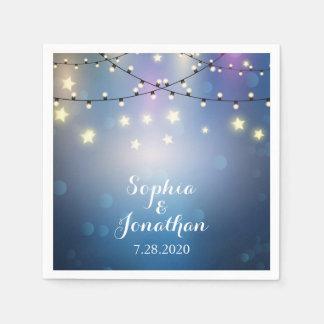 Romantic Outdoor Wedding Twinkle String Lights Disposable Serviette