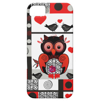 Romantic Owl, love birds and Patterns iPhone 5 Cases