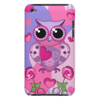 Romantic Owl roses and Hearts Case-Mate iPod Touch Case