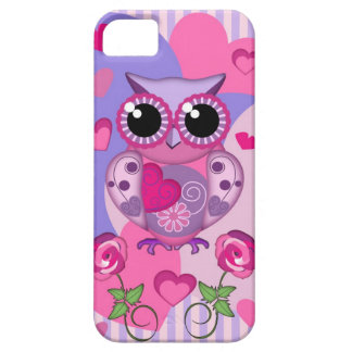 Romantic Owl, roses and Hearts Case For The iPhone 5