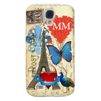 Romantic Paris collage personalized Galaxy S4 Case