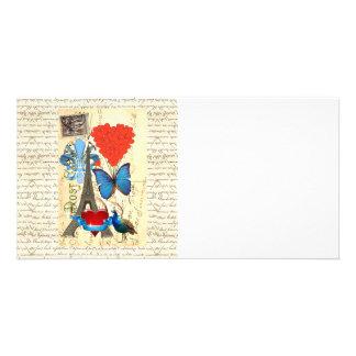Romantic Paris collage Photo Card
