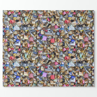 Romantic Paris Love Padlocks Wrapping Paper