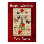 Romantic Paris  Valentines day Card