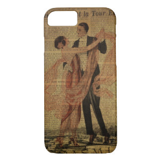 romantic Paris Wedding Waltz ballroom dancers iPhone 8/7 Case