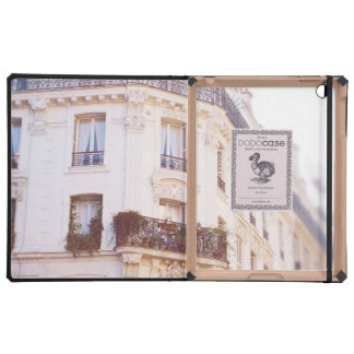 Romantic Parisian Building, Soft Pastel Photo iPad Cover