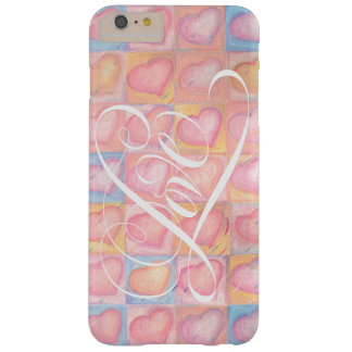 Romantic Pastel Heart Pink Love Valentine iPhone 6 Barely There iPhone 6 Plus Case