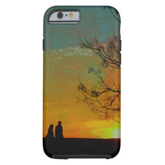 romantic peaceful sunset couple painting tough iPhone 6 case