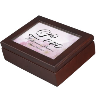 Romantic Personalized Pink Floral Love Memory Boxes