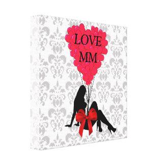 Romantic personalized Valentines Canvas Print