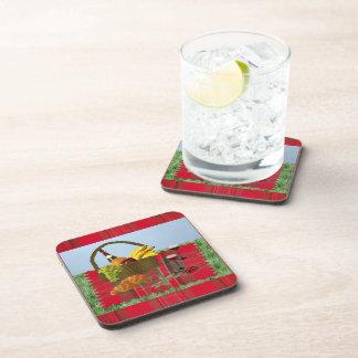 Romantic Picnic Beverage Coasters