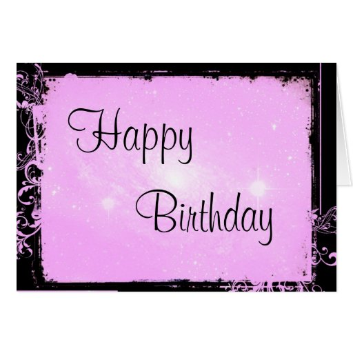 Romantic Pink Happy Birthday Greeting Card