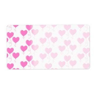 Romantic Pink Heart Balloons Pattern.