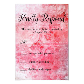 Romantic Pink Old Rose Rustic Card