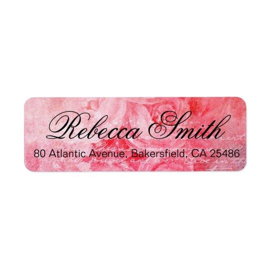 Romantic Pink Old Rose Rustic Return Address Label