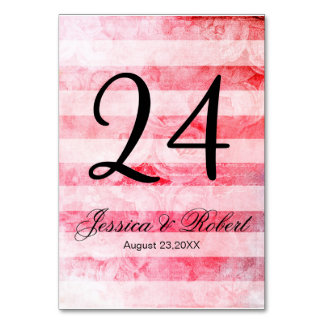 Romantic Pink Old Rose Rustic Wedding Table Card