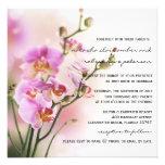 Romantic Pink Orchids Wedding Invitation