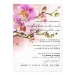 Romantic Pink Orchids Wedding Invitation 5x7