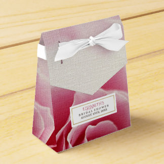 Romantic Pink Rose Bridal Shower Favor Boxes Wedding Favour Boxes
