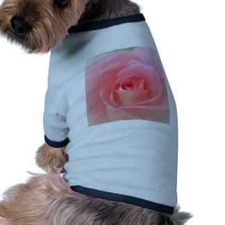 Romantic Pink Rose Dog T Shirt