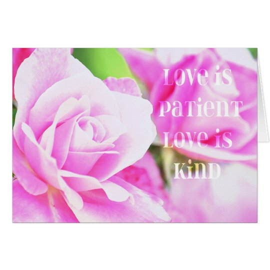 Romantic Pink Rose Floral Card
