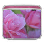Romantic Pink Rose Floral iPad Sleeve
