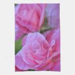 Romantic Pink Rose Floral Kitchen Towel