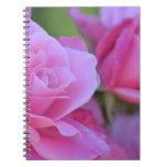 Romantic Pink Rose Floral Spiral Notebook