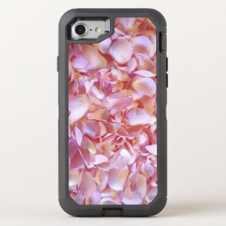 Romantic pink Rose Petals OtterBox Defender iPhone 7 Case