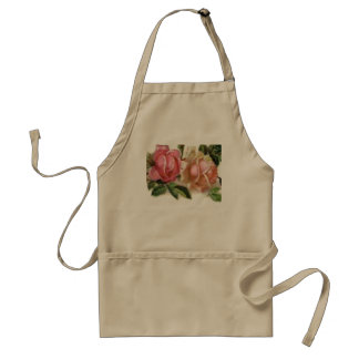 Romantic Pink Roses Apron