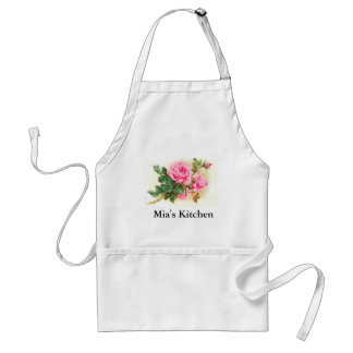 Romantic Pink Roses Personalized Standard Apron