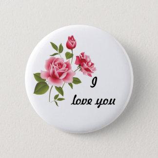 Romantic pink roses pin