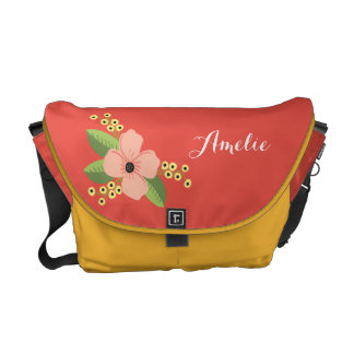 Romantic Pink Tropical Flower Floral Commuter Bags