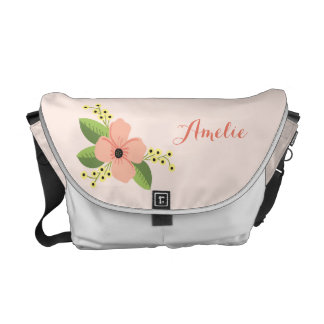 Romantic Pink Tropical Flower Floral Courier Bag