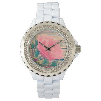 Romantic Pink Vintage Rose Watch