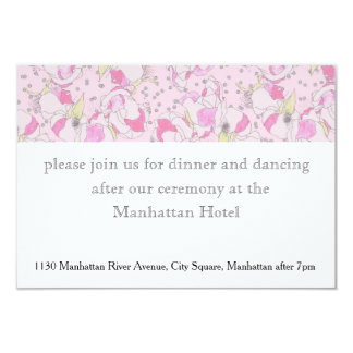Romantic Pink Wedding Roses in Watercolor 9 Cm X 13 Cm Invitation Card
