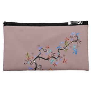 Romantic pink with Asian style of motive on Makeup Bag