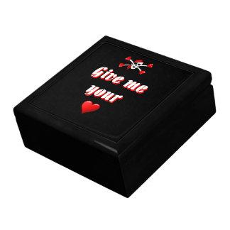 Romantic Pirate and Vaentines love hearts Gift Box