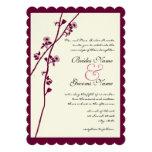 Romantic Plum Wildflower Branches Wedding Custom Announcement