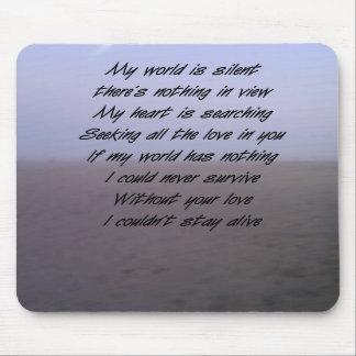 romantic poem mousepads