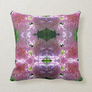 Romantic purple Hydrangea mandala Cushion