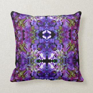 Romantic purple Hydrangeas Cushion