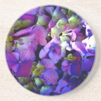 Romantic Purple Hydrangeas Sandstone Coaster