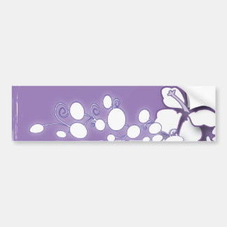 Romantic Purple Passion Flower Beach Wedding Car Bumper Sticker
