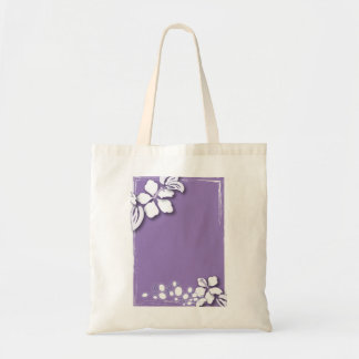 Romantic Purple Passion Flower Wedding Favor Budget Tote Bag
