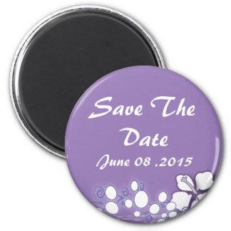 Romantic Purple Passion Flower Wedding Favor 6 Cm Round Magnet