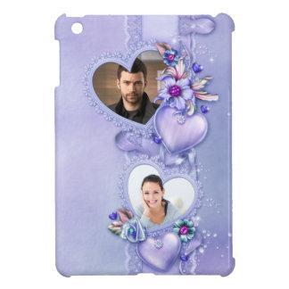 Romantic Purple Photo Hearts - Customize Cover For The iPad Mini